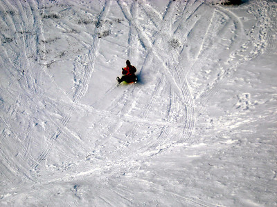 HikerBob sledding