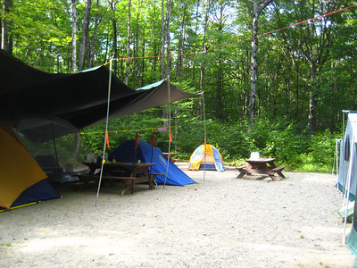 My second tent site (I was too close to the evening fire pit at the first site so I moved to the recently vacated honeymooners' suite.)