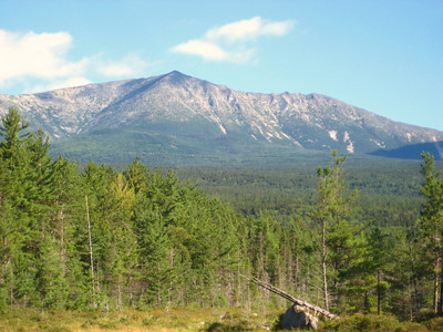 View of Katahdin from the tote road on Saturday morning
