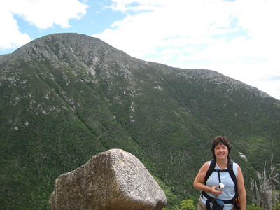 Kaboose with Katahdin behind her at our lunch stop