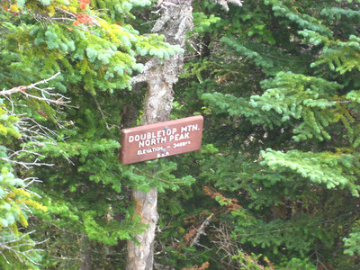 Missed this sign the first time I was on the north peak
