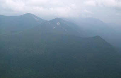 View from the summit (it was a very hazy day.)