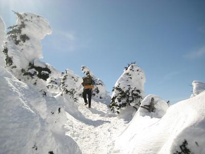 Cumulus nearing the summit