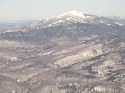 One last look at Mt. Mansfield before we head down.