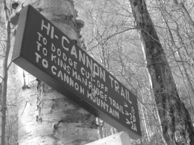 Turning onto the Hi-Cannon Trail.