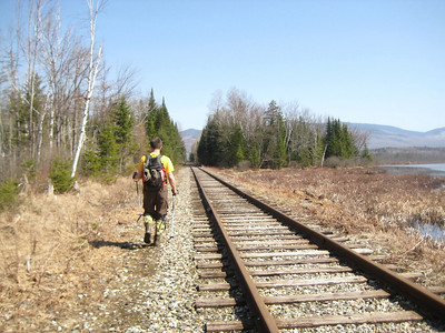 This railroad is still active, but we weren't near it for very long
