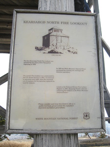 Sign on the tower