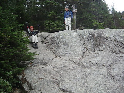 Deb's rock glissade