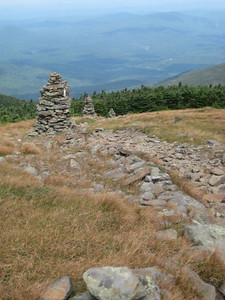 Line of cairns