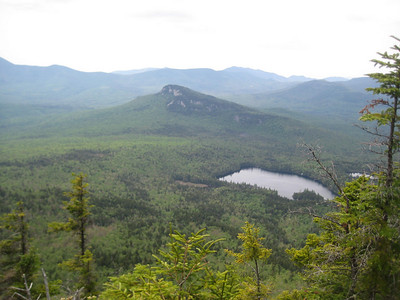 View of Green Cliff and Sawyer Pond from Mt. Tremont