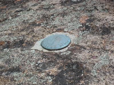 Survey marker atop Mt. Tremont
