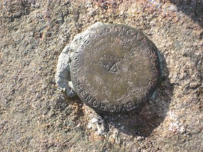 Summit marker on Pierce