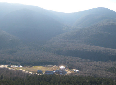 View of the Highland Center from the cliff.