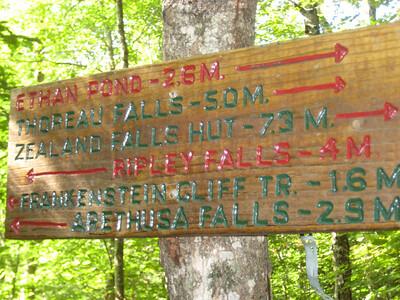 Five miles to Thoreau Falls