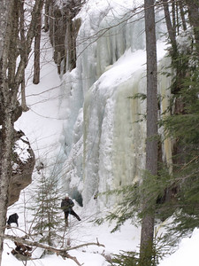 Ice climber at Champney Falls