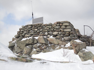 The remnants of the tower on Middle Sister