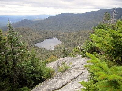 Looking down on Lonesome Lake