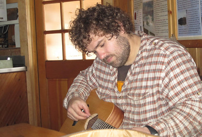 Marc Howes trying out the guitar