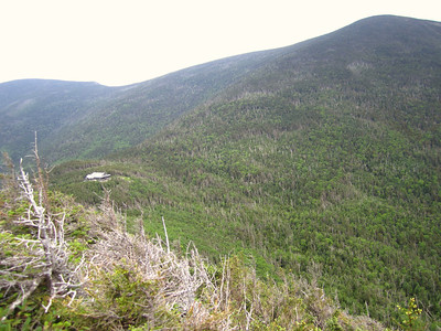Outlook view of Galehead Hut and South Twin