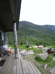 Hut porch view