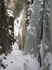 The boardwalks ended here at the ice wall