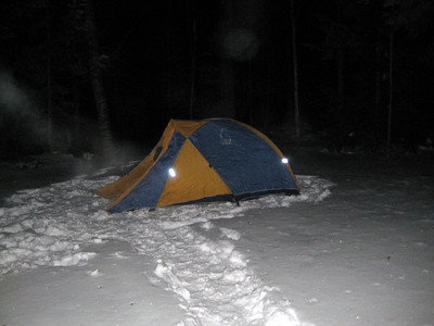 One day my light up the tent at night picture is going to work.
