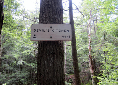 This whole gorge area is called Devil's Kitchen.... too many trees for a picture of anything but the sign though