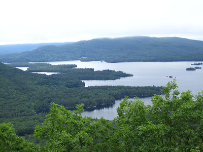 View of Squam Lake from the Mt. Webster overlook