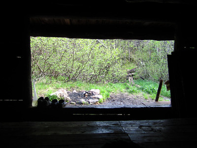 View from the shelter