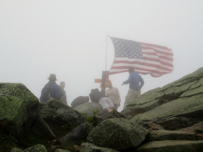 I arrived on the summit as the guys were putting up the flag
