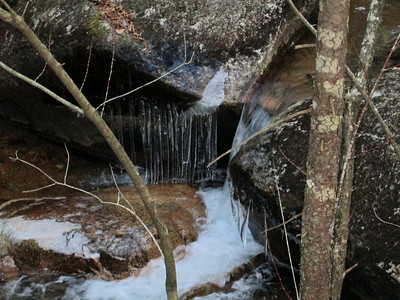 Icicles in Whitin Brook