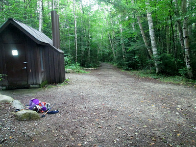 At the Franconia Brook campsite