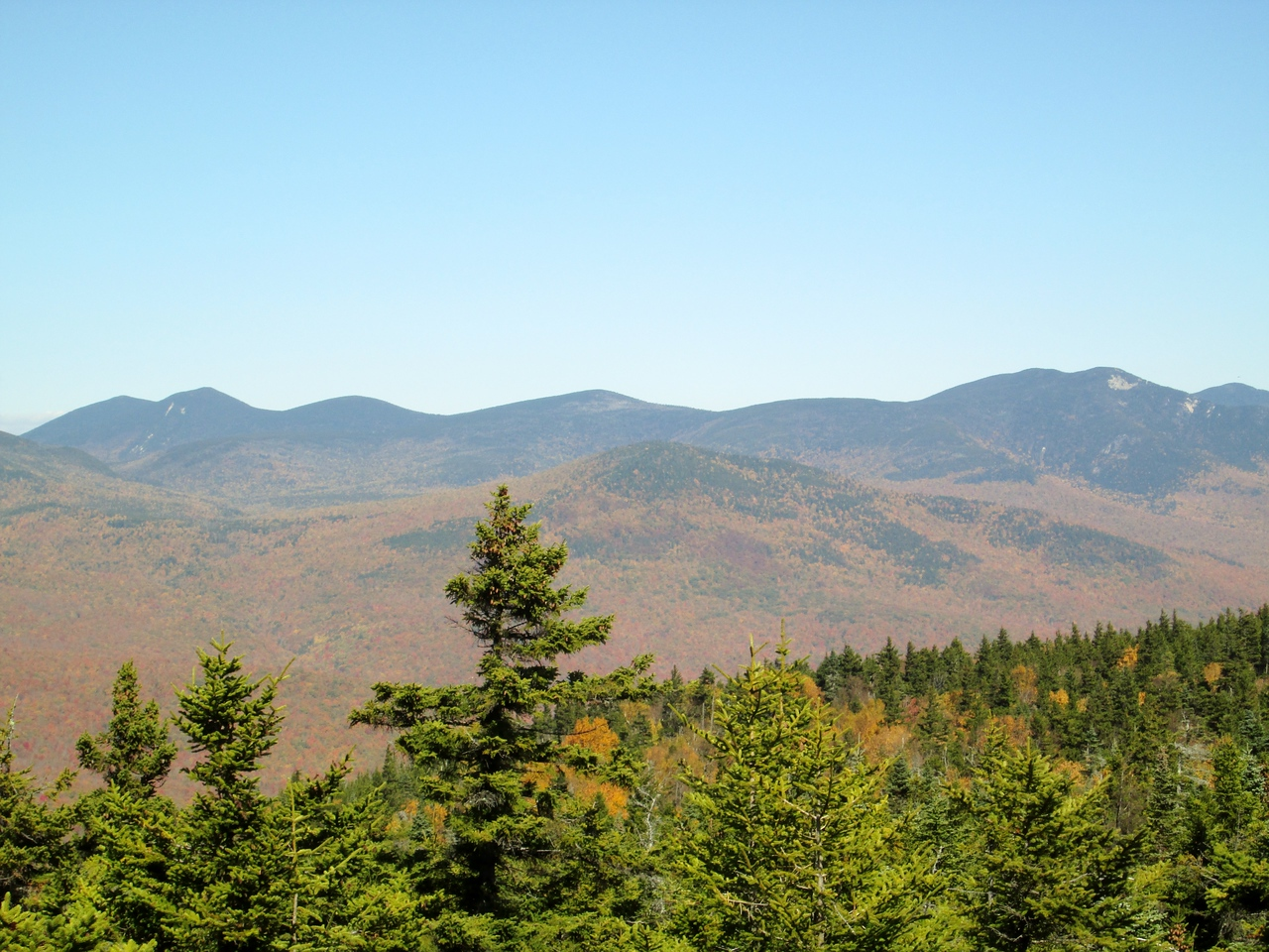 View from the ledges just before the summit