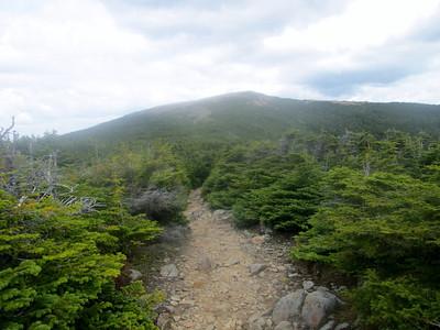 Looking back toward the summit, again.
