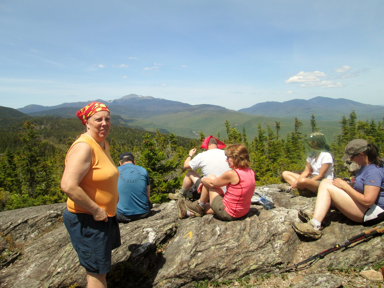 On the summit of 3,004-foot Mt. Parker.