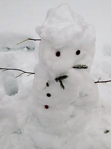 Trailside snowman