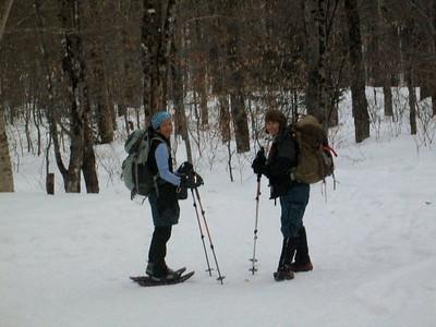 GetawayGirl and Deb at the trailhead.