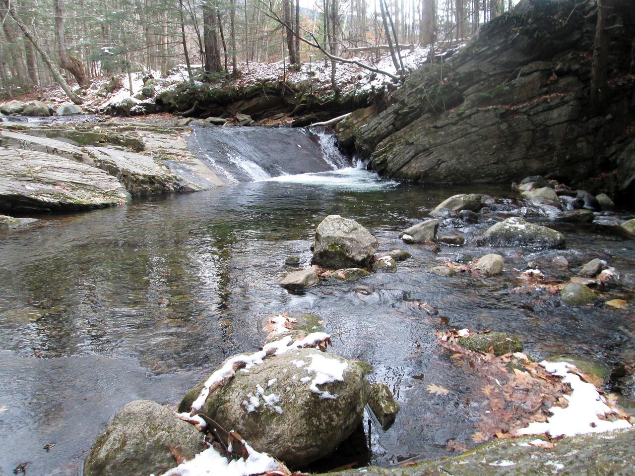 Small cascade just a short bit away from the Jeffers Brook Shelter