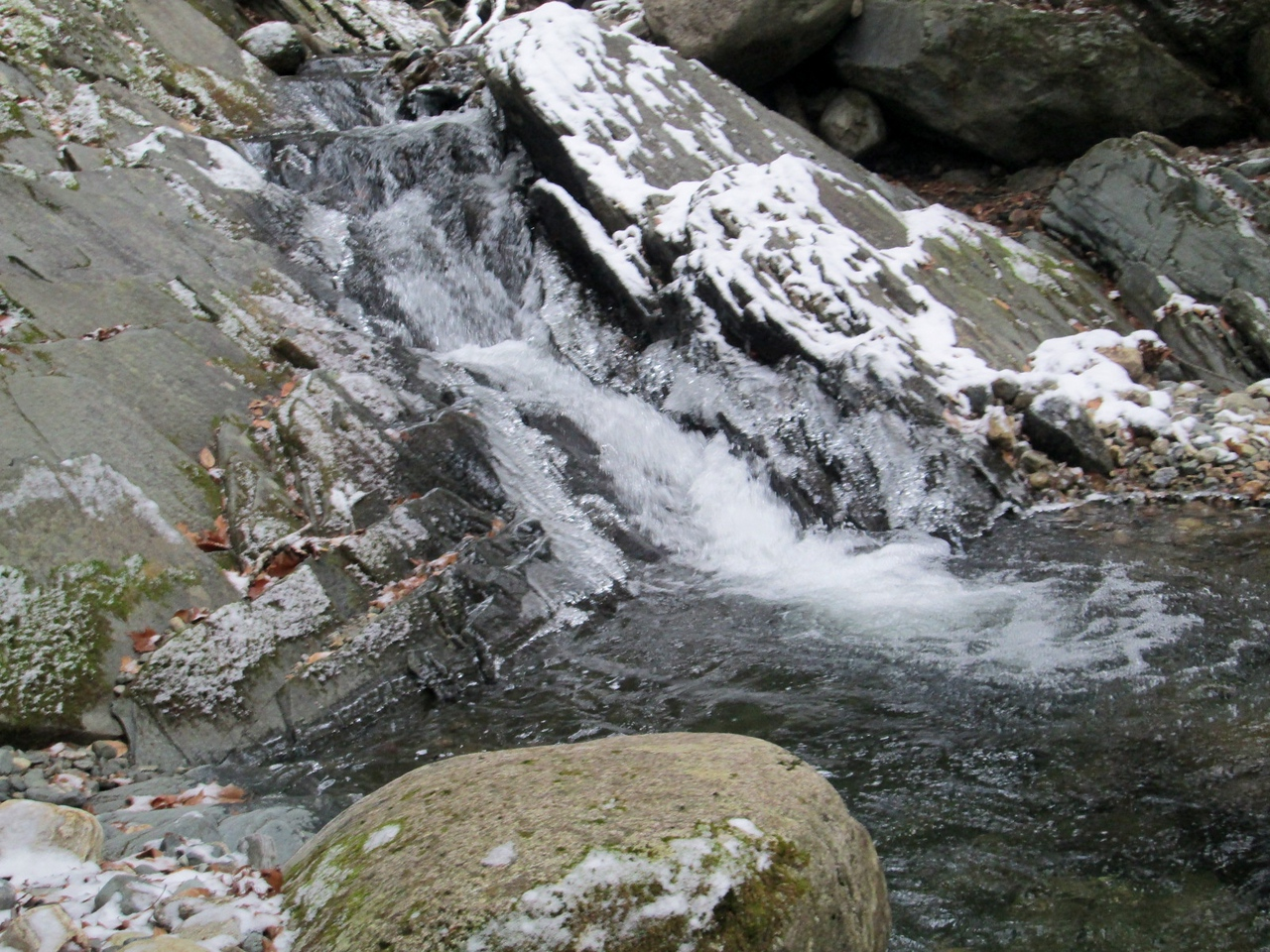 Icy cascade in Tunnel Brook
