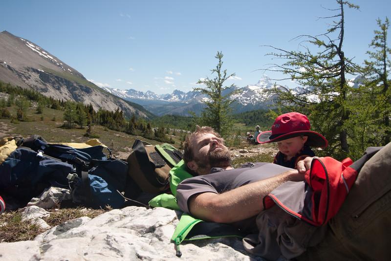 <b>30 July 2011</b>  Back napping at Citadel Pass