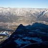 <b>5 Feb 2012</b> Canmore from Ha Ling Peak
