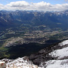 Canmore from the summit of Grotto