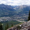 Looking down at Canmore - and we're not even at the top