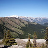 <b>12 June 2010</b> Looking out to the North-East from West Wind Pass, to Pigeon Mountain on the right, then Dead Mans Flats and the Trans-Canada, and Grotto Mt hanging out in the background on the left