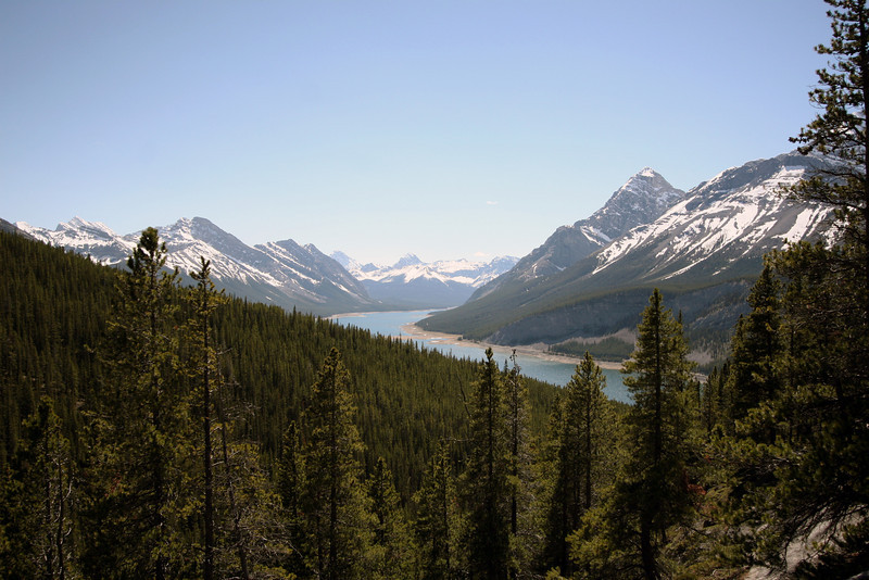 <b>12 June 2010</b> The view out to Spray Lakes from the West Wind Pass trail, K-Country