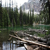 <b>26 June 2010</b> Hiking in to Arnica Lake - the nameless pond