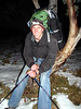 Corey on the hike in to Macalister Springs, 2am Friday night