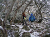 Megan and Samantha wandering off the mountain