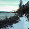<b>15 December 2012</b>  Solo run along shore of Lake Minnewanka