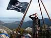 Saluting the flag